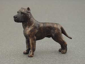 American staffordshire terrier tjeckisk minimodell