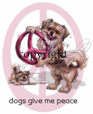 Tibetansk spaniel peace t-shirt McCartney