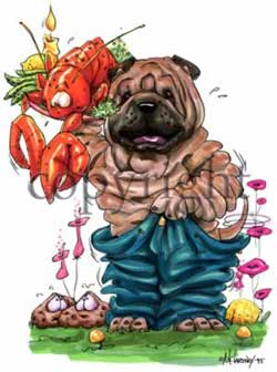 Shar pei cartoon t-shirt 4 McCartney